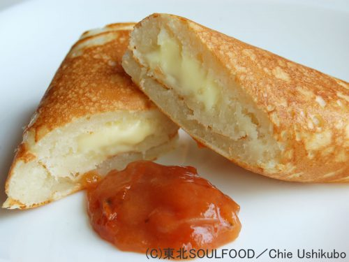 甲子柿ジャム添えチーズロール